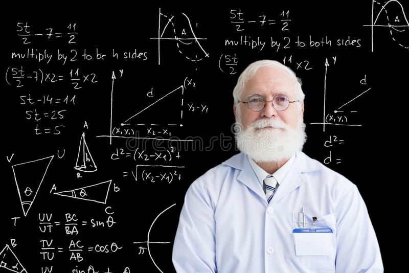 Matemático superior foto de stock