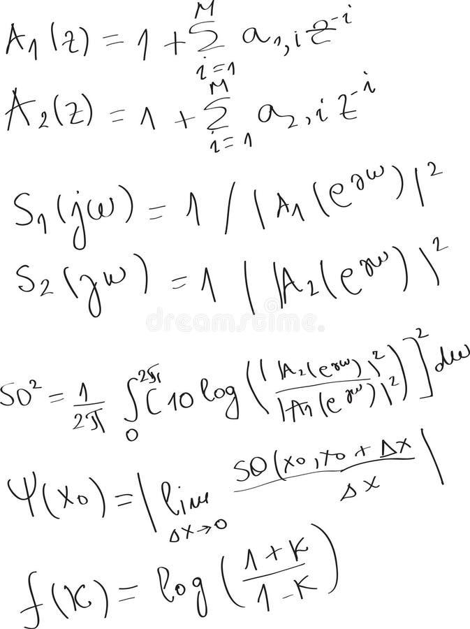 Matematico illustrazione vettoriale