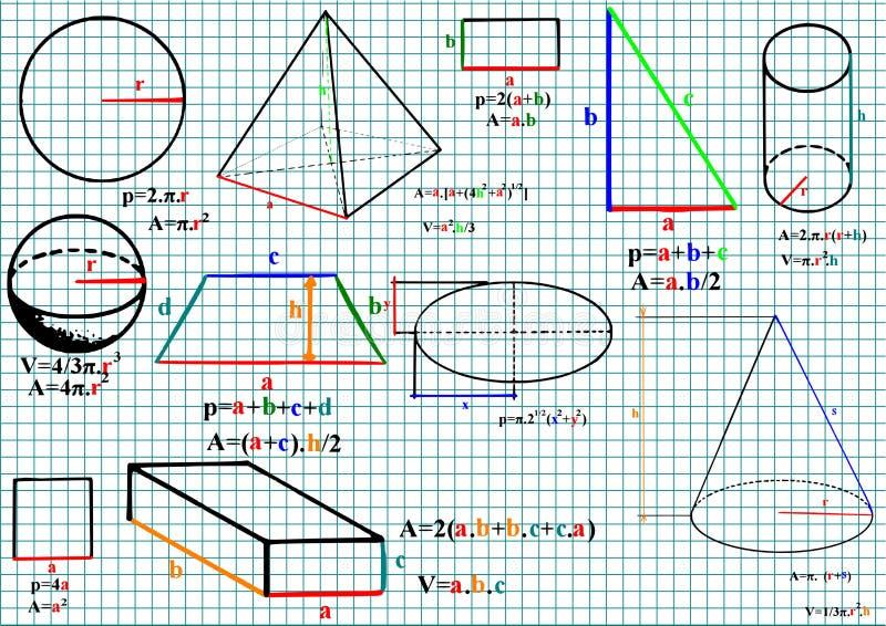 matematik vektor illustrationer