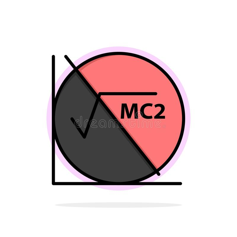Matematik formel, matematikformel, för abstrakt symbol för färg cirkelbakgrund för utbildning plan vektor illustrationer