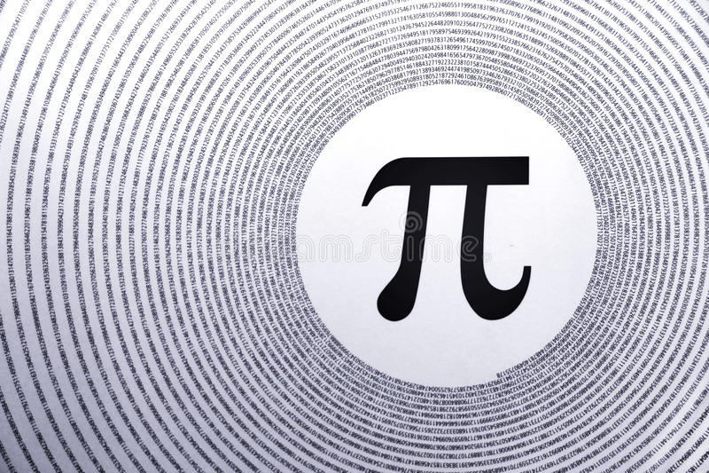 matematik pi royaltyfri foto