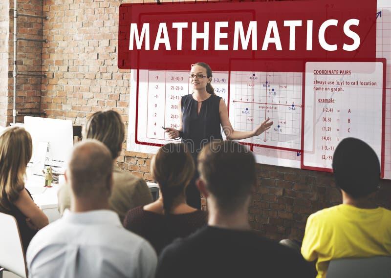 Matematiklikställanden beräknar algebrafunktionsbegrepp arkivbilder