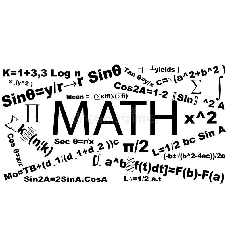 Matematiktypografirumus royaltyfri fotografi