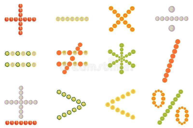 matematiskt symbol stock illustrationer
