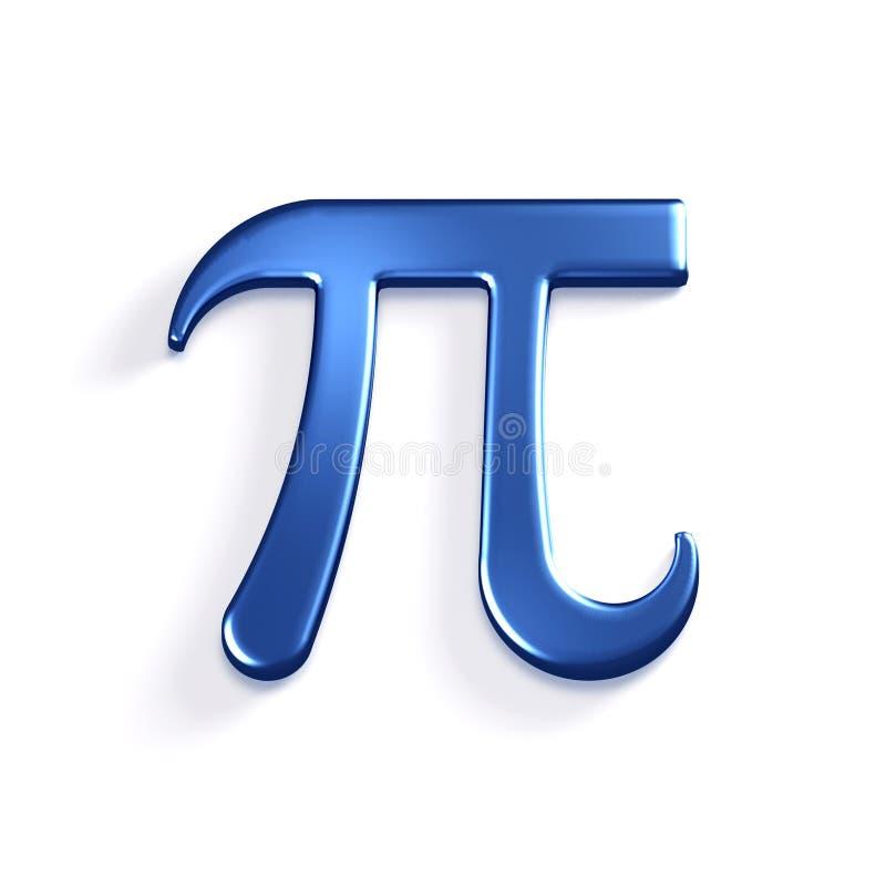 Matematiskt symbol för pinummer illustrationen 3d framför stock illustrationer