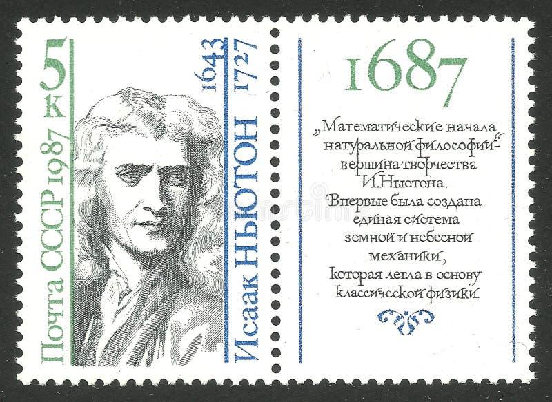 Matematyczki i fizyka Isaac newton zdjęcia stock