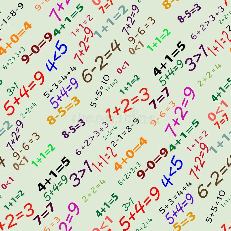 matematycznie deseniowy bezszwowy ilustracja wektor