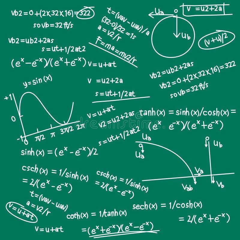 matematycznie doodle formuła ilustracja wektor