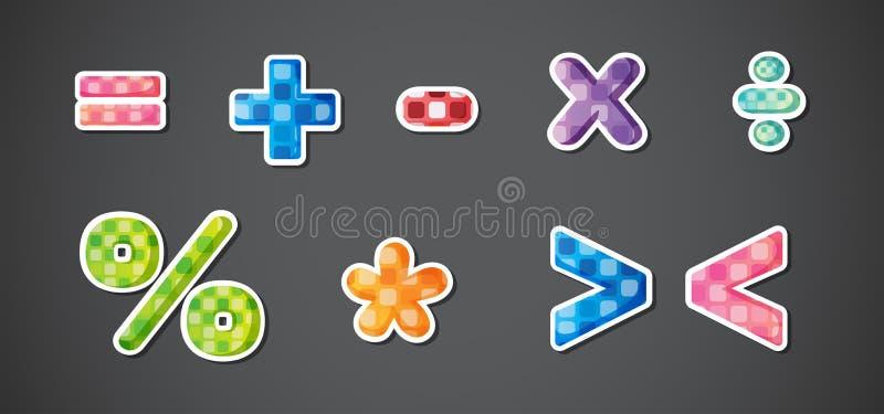 Matematycznie symbole ilustracja wektor
