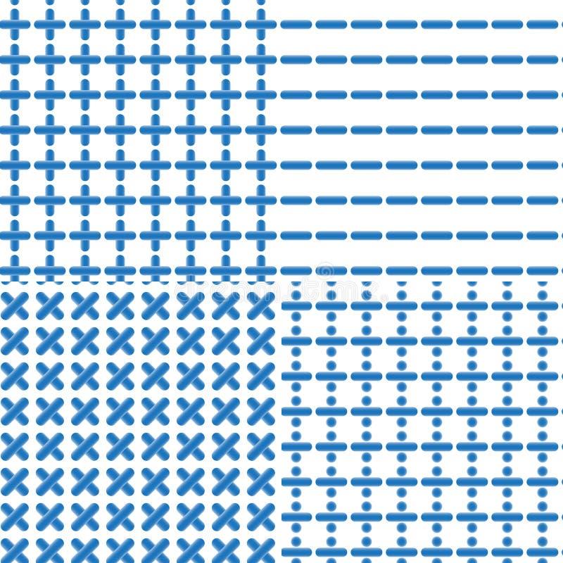 Matematycznie symbolu Bezszwowy wzór ilustracja wektor