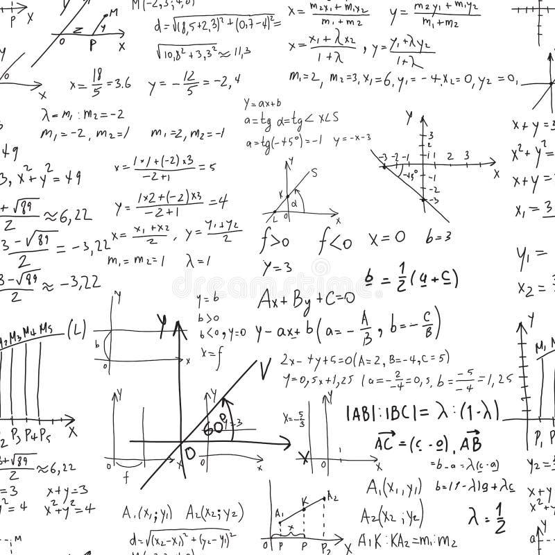 Matematycznie wektorowy bezszwowy wzór z geometrical postaciami, p royalty ilustracja