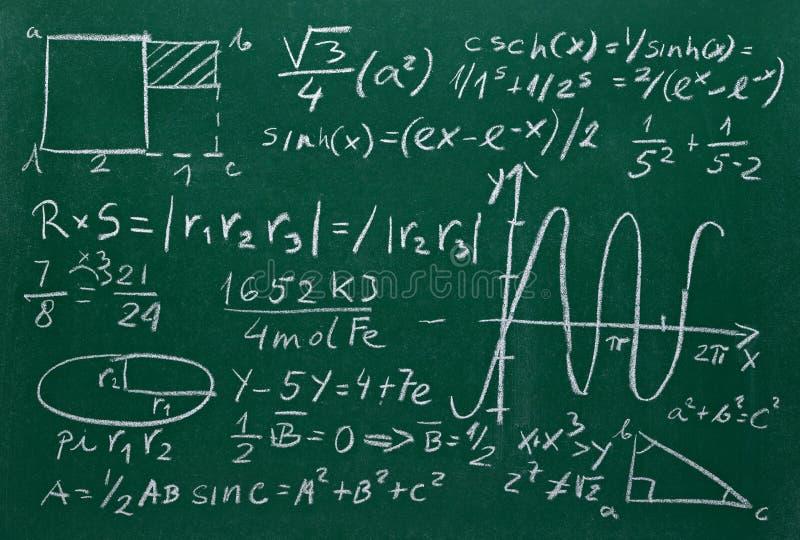 Matematyk formuły na szkolnej blackboard edukaci ilustracji
