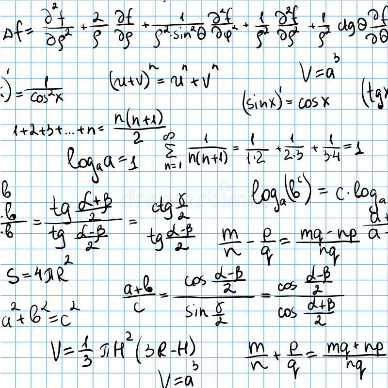 matematyka bezszwowa ilustracja wektor