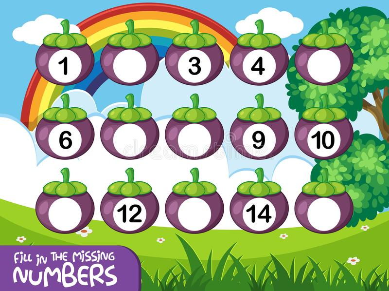 Matematyka couting numerową grę royalty ilustracja