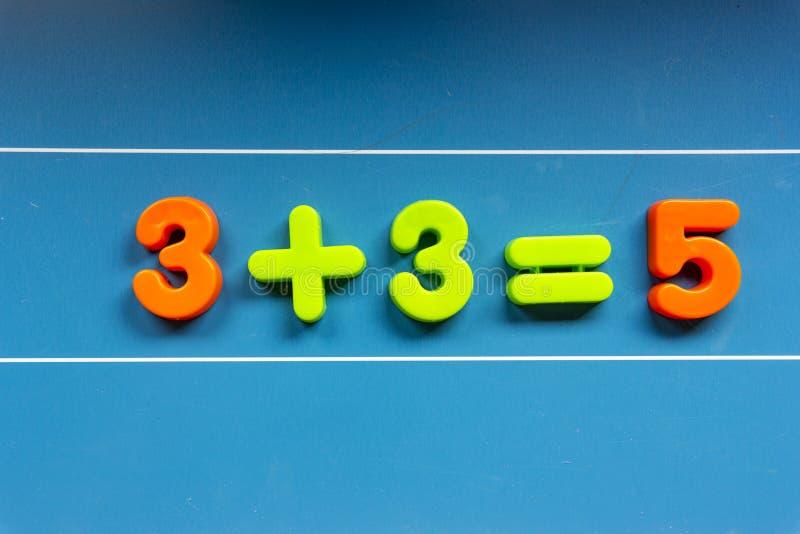 Matematyka egzamin: odrzucony fotografia royalty free
