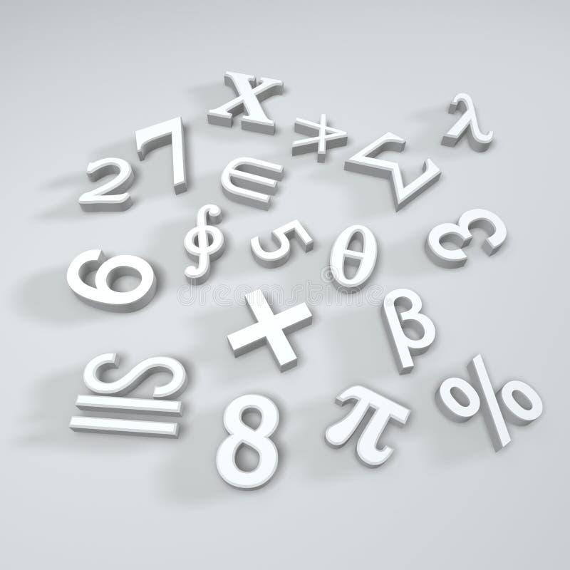 matematyka symbole ilustracji