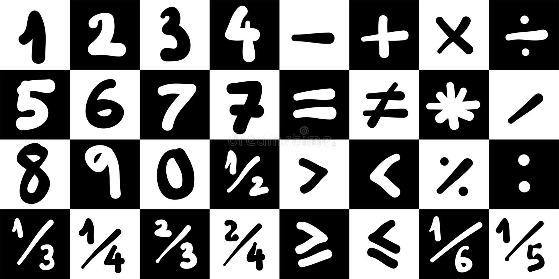 matematyka symboli ilustracji