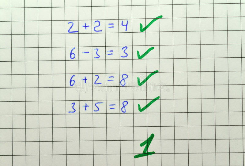 Matematyka test obraz royalty free