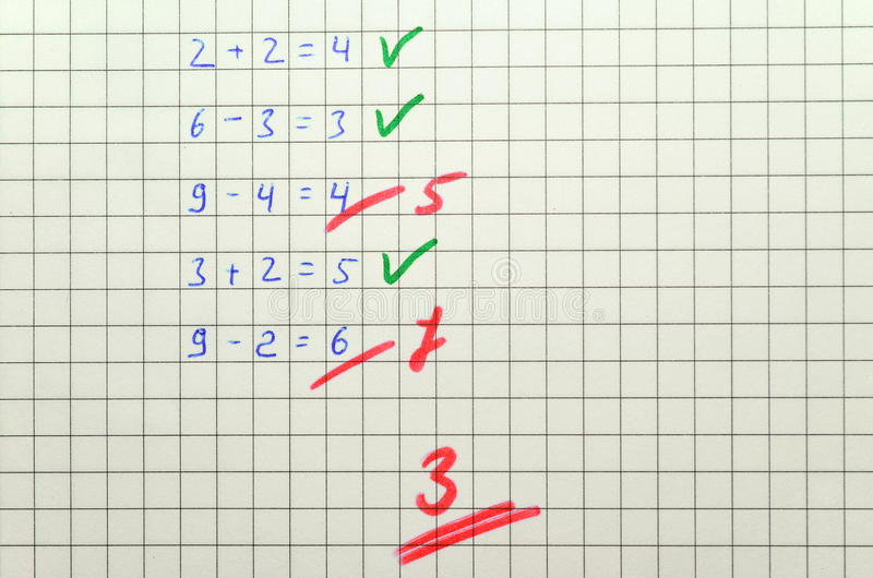 Matematyka test obrazy stock