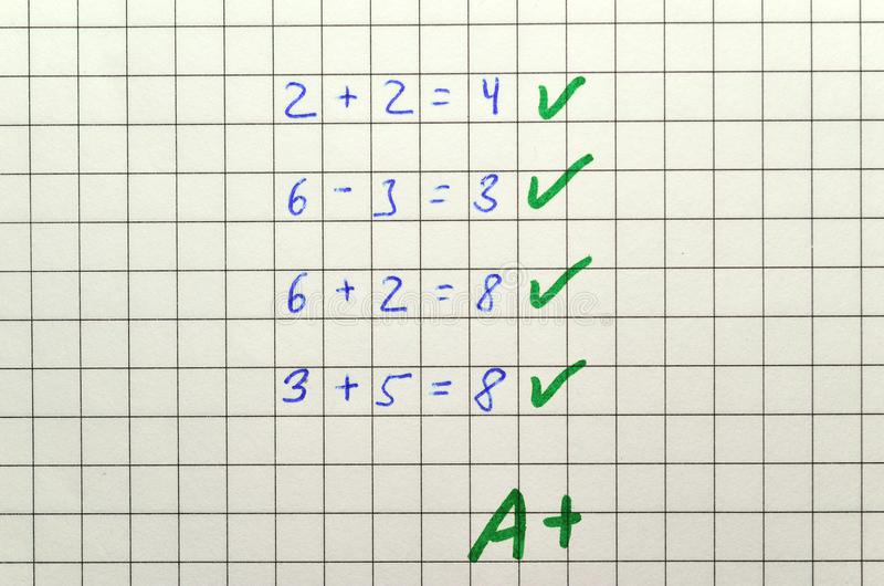 Matematyka test fotografia royalty free