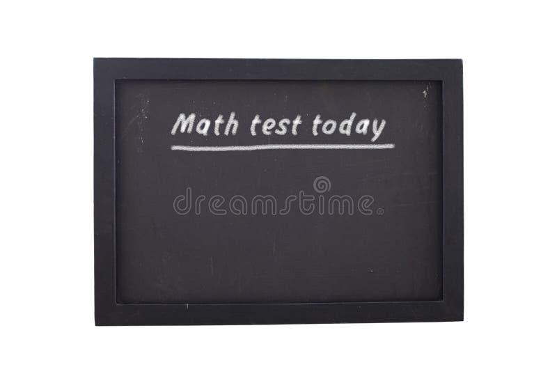 Matematyka test dzisiaj obraz royalty free