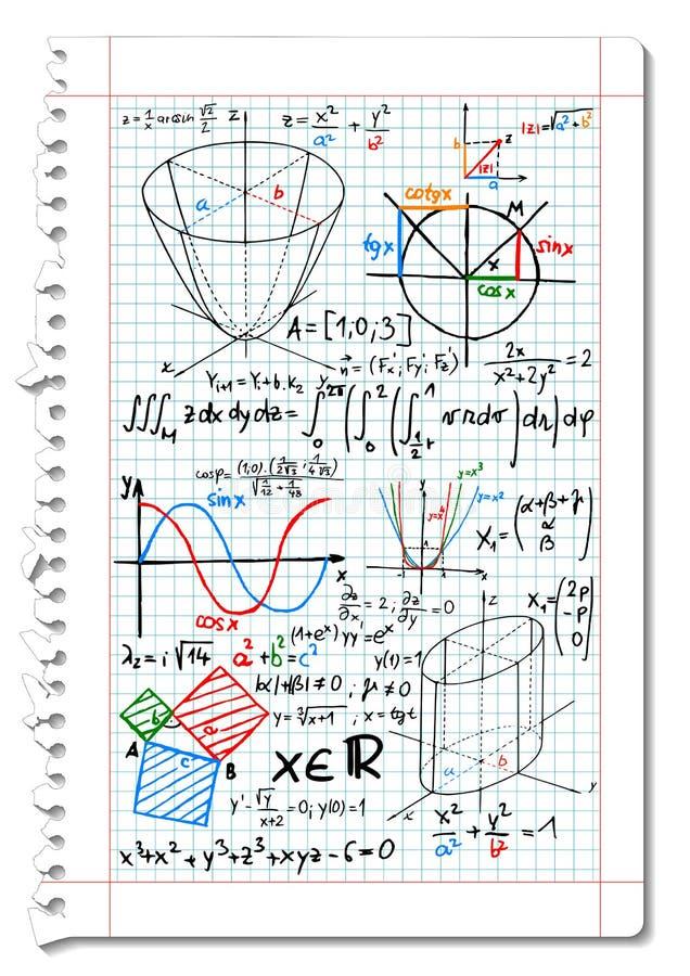 matematyki royalty ilustracja