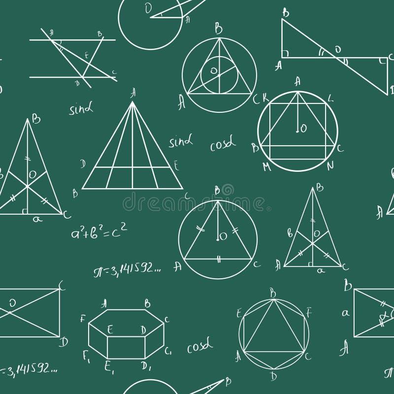 matematyki deseniują bezszwowego royalty ilustracja