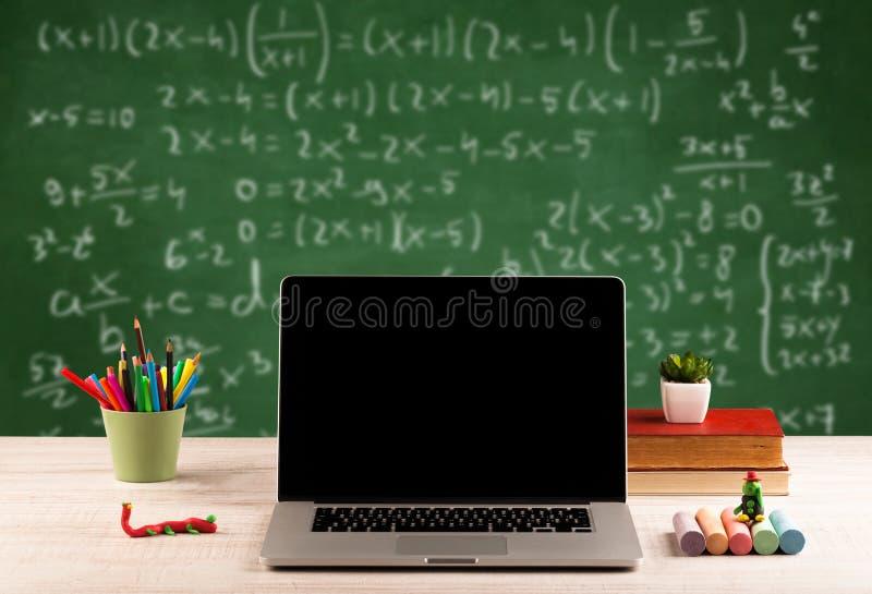 Matematyki klasa od uczeń szkoły biurka zdjęcia stock