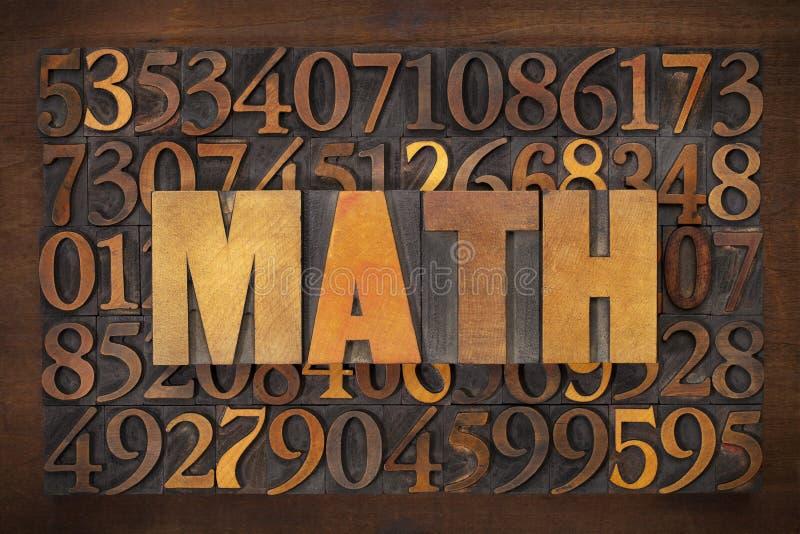 Matematyki (mathematics) słowo zdjęcie royalty free