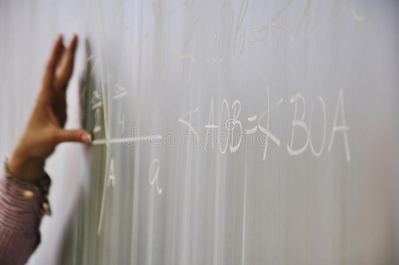 matematyki nauczanie zdjęcie stock