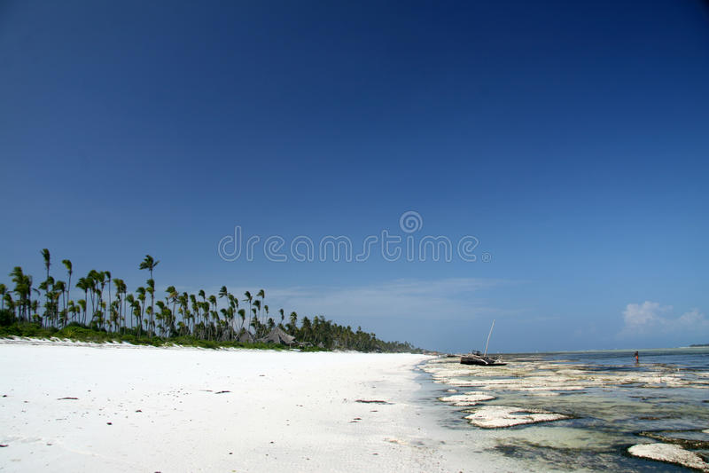 Matemwe plaża, Zanzibar fotografia royalty free