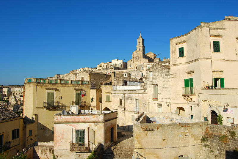 $matera η πόλη Sassi - Βασιλικάτα Ιταλία n358 στοκ φωτογραφία