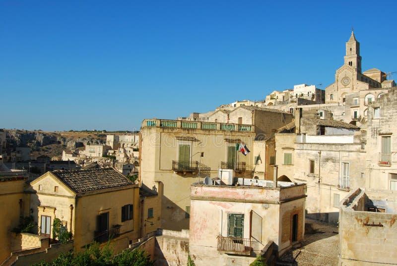 $matera η πόλη Sassi - Βασιλικάτα Ιταλία n355 στοκ εικόνα με δικαίωμα ελεύθερης χρήσης