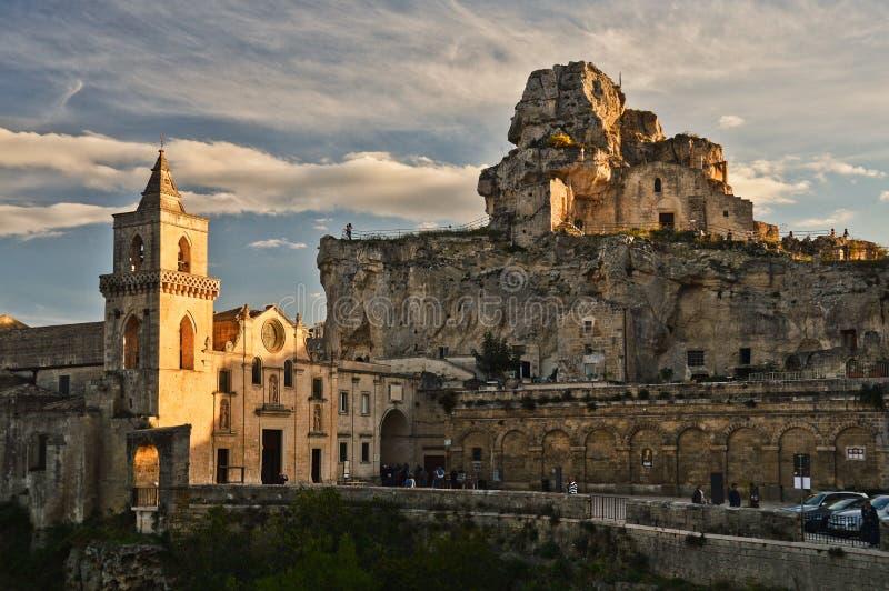 "Matera, ""la ville des pierres en Italie sothern photo stock"