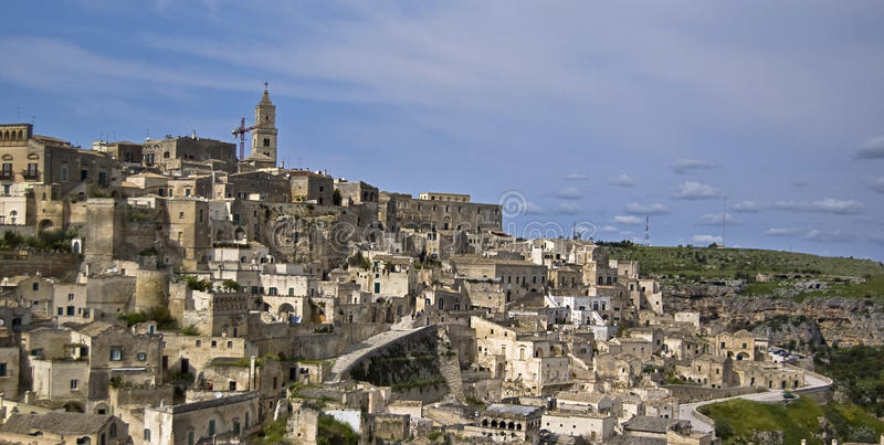 Matera. A view of the city of Matera, Italy royalty free stock photography