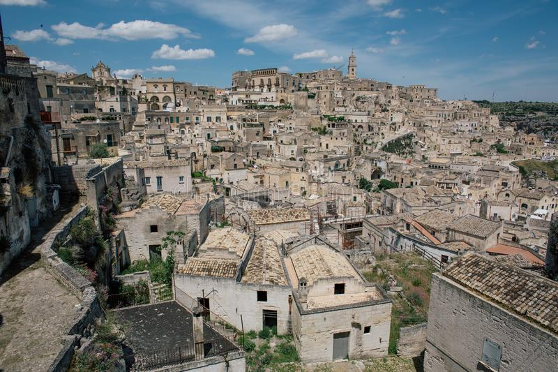 Matera apulia vintage Old City streets and houses in Italy royalty free stock photos