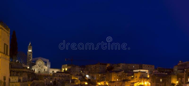 Matera 2019 basilic par nuit photo stock