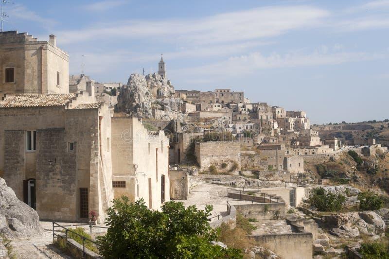 Matera (Basilicata, Italy) - The Old Town (Sassi) stock photo