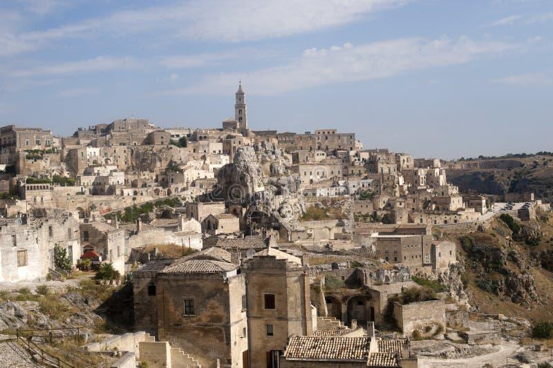 Matera (Basilicata, Italy) - The Old Town (Sassi) royalty free stock photo