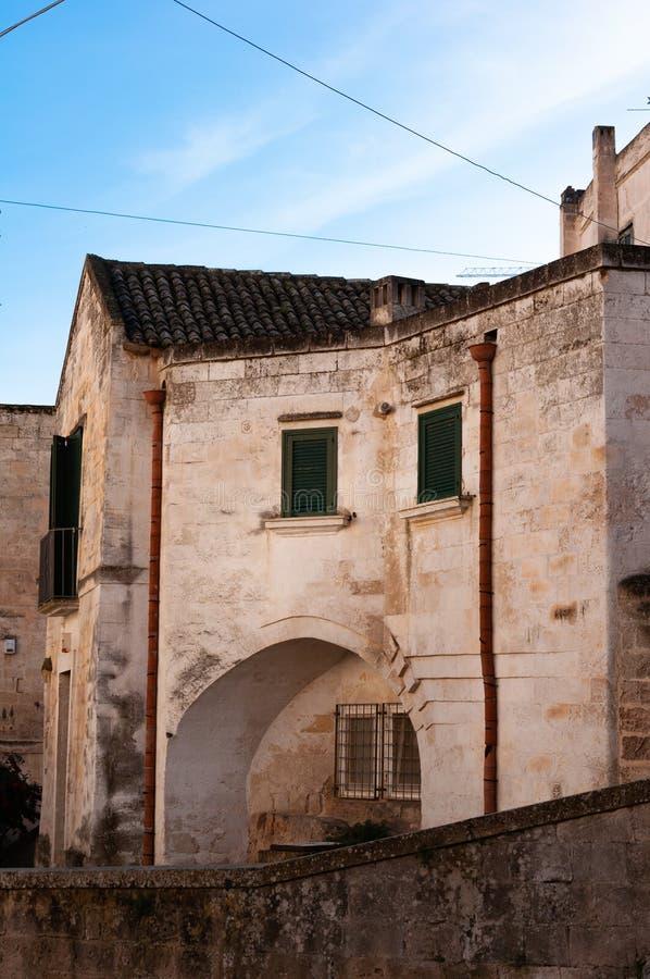 Matera, capitale europea di cultura 2019 La Basilicata, Italia fotografia stock libera da diritti