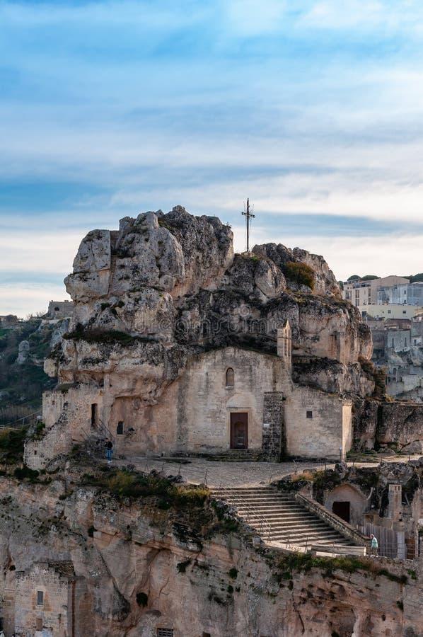 Matera, capitale europea di cultura 2019 La Basilicata, Italia fotografie stock libere da diritti