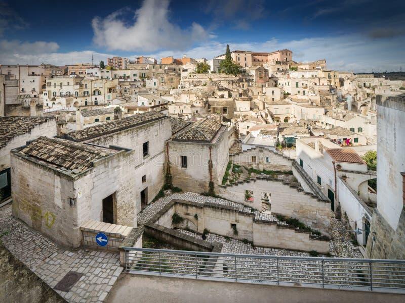 Matera, the cave city in Basilicata, Italy stock photo