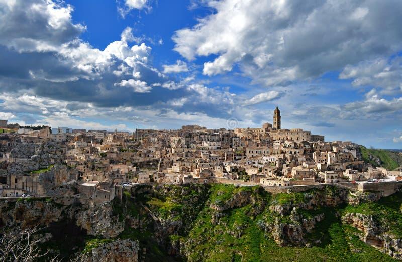 Matera en Italie photos libres de droits