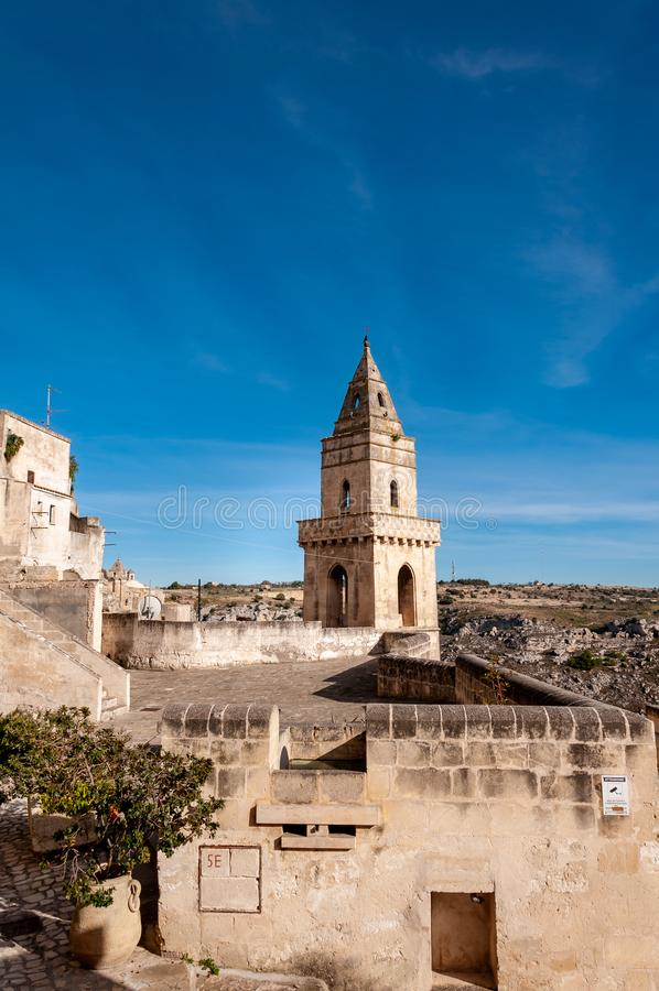 Matera, European Capital of Culture 2019. Basilicata, Italy. Matera, European Capital of Culture 2019. A city built on the famous Stones, carved rocks to obtain royalty free stock photography