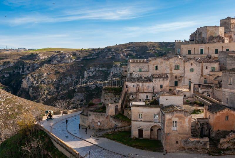 Matera, European Capital of Culture 2019. Basilicata, Italy. Matera, european capital of culture . a city built on the famous stones, carved rocks to obtain stock photo