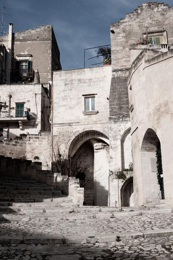 Matera, European Capital of Culture 2019. Matera, european capital of culture . a city built on the famous stones, carved rocks to obtain houses, living from royalty free stock photo