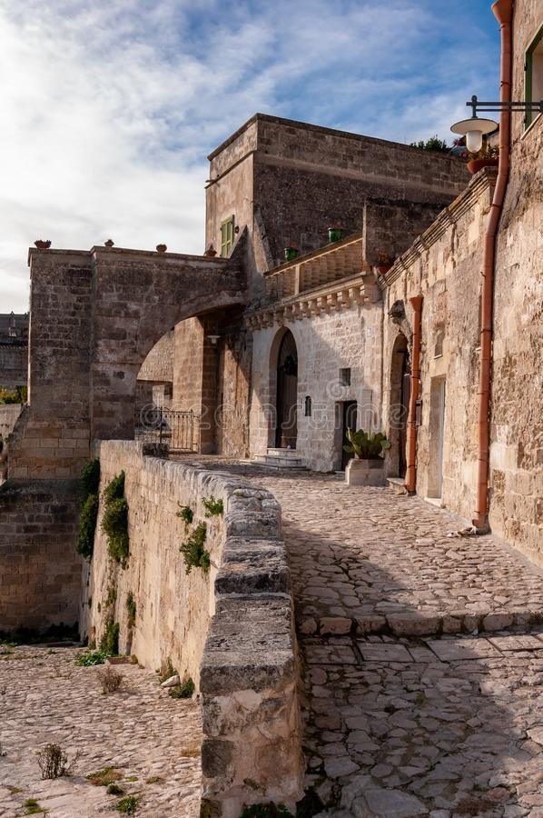 Matera, Europees kapitaal van cultuur 2019 Basilicata, Itali? stock fotografie