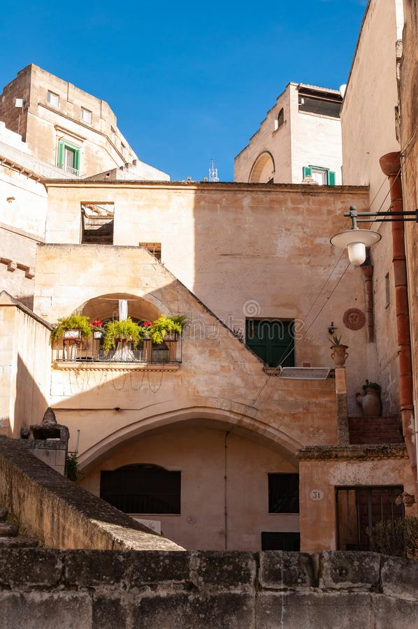Matera, Europees kapitaal van cultuur 2019 Basilicata, Itali? royalty-vrije stock foto's