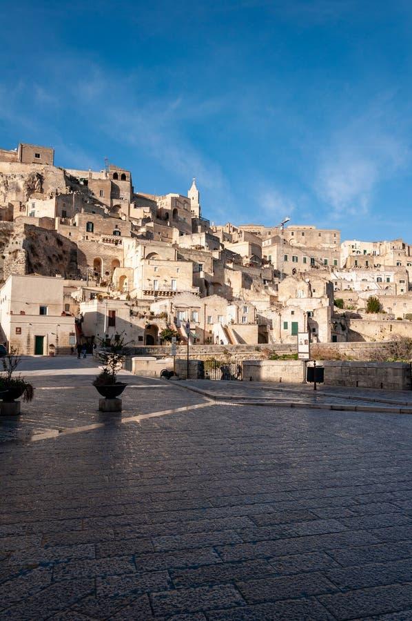 Matera, Europees kapitaal van cultuur 2019 Basilicata, Itali? stock afbeelding
