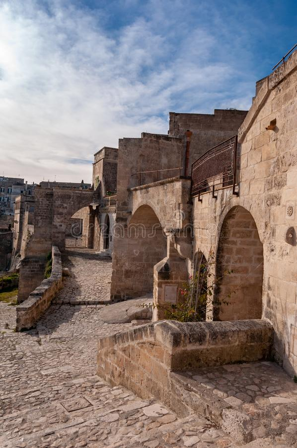 Matera, Europees kapitaal van cultuur 2019 Basilicata, Itali? stock afbeeldingen